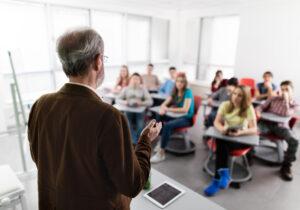 teacher educating pupils